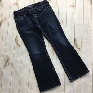 Silver Dark Denim Bootcut Jeans Woman's Size 33
